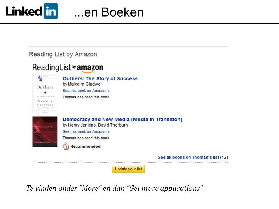 ...en Boeken Te vinden onder More en dan Get more applications