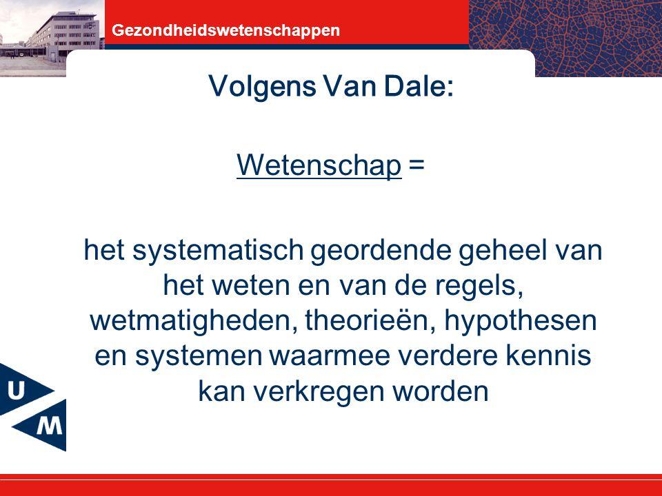 Volgens Van Dale: Wetenschap =