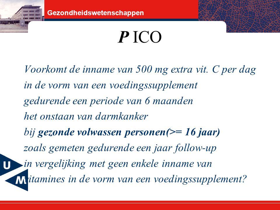 P ICO Voorkomt de inname van 500 mg extra vit. C per dag