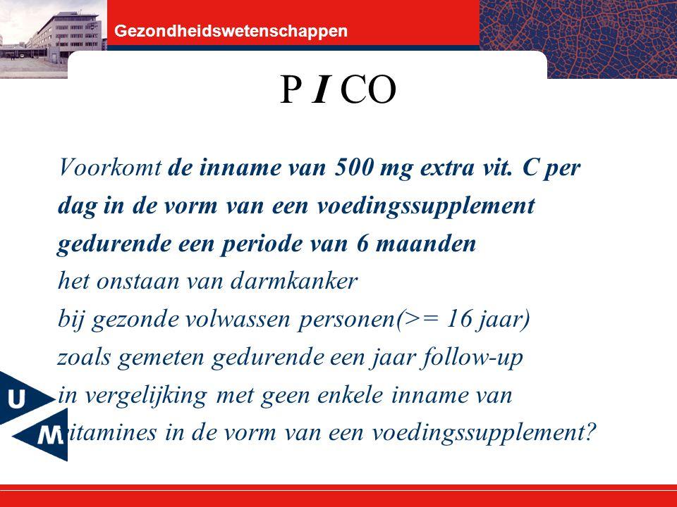 P I CO Voorkomt de inname van 500 mg extra vit. C per