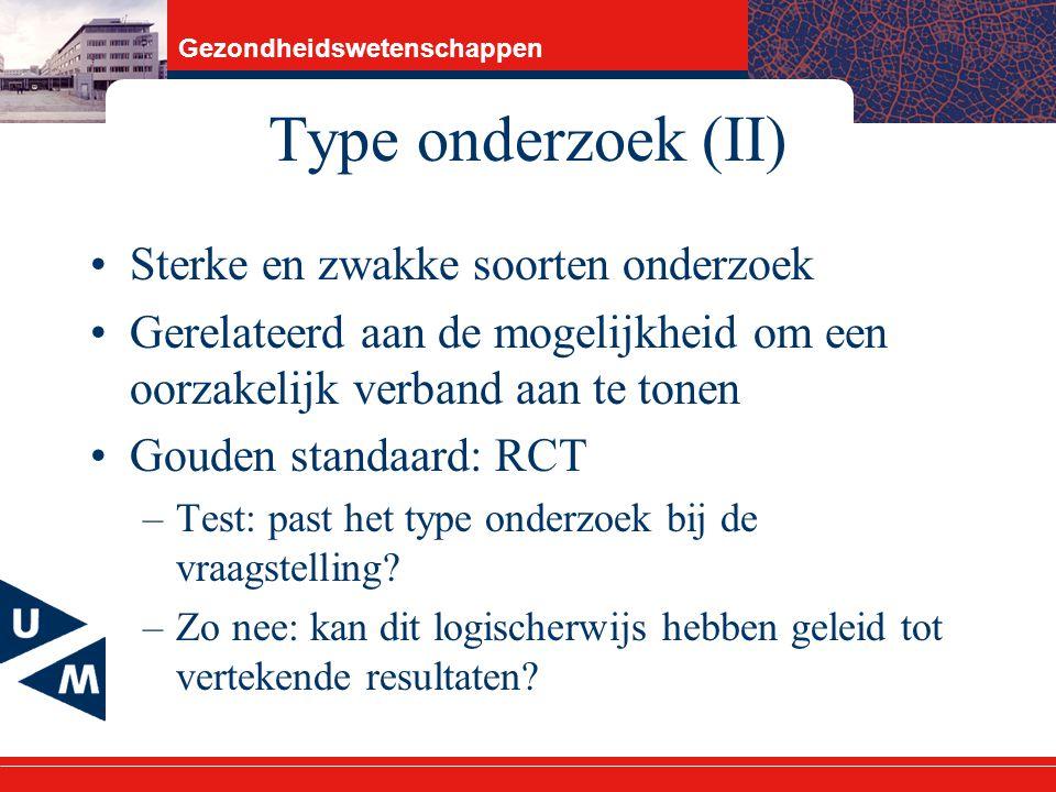Type onderzoek (II) Sterke en zwakke soorten onderzoek
