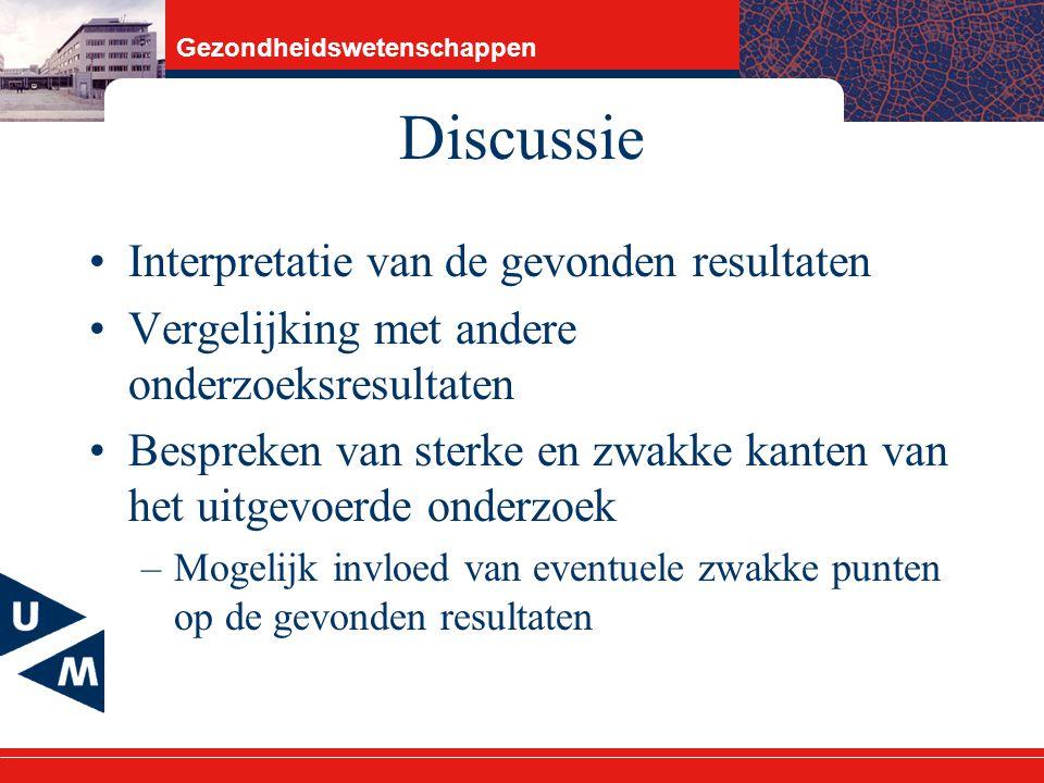 Discussie Interpretatie van de gevonden resultaten