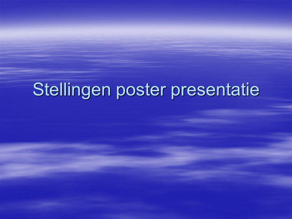 Stellingen poster presentatie