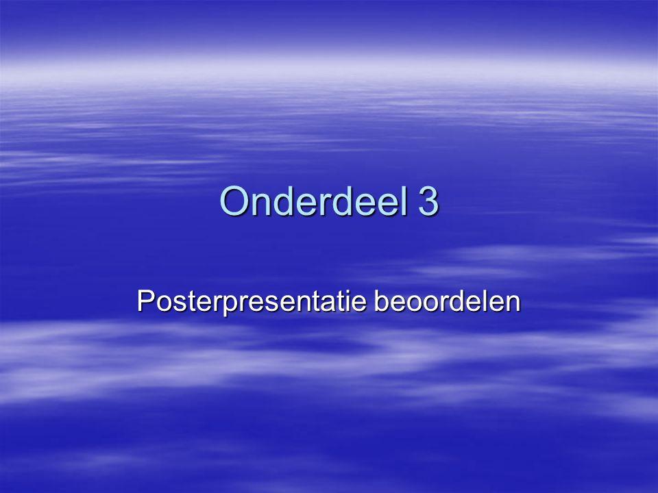 Posterpresentatie beoordelen