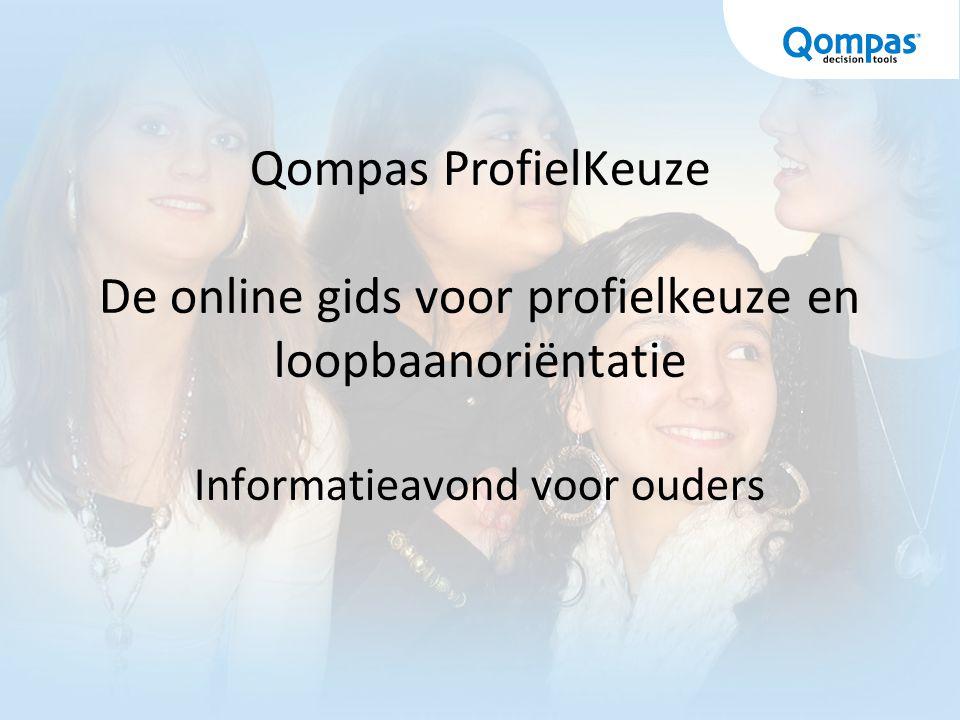 Qompas ProfielKeuze De online gids voor profielkeuze en loopbaanoriëntatie Informatieavond voor ouders