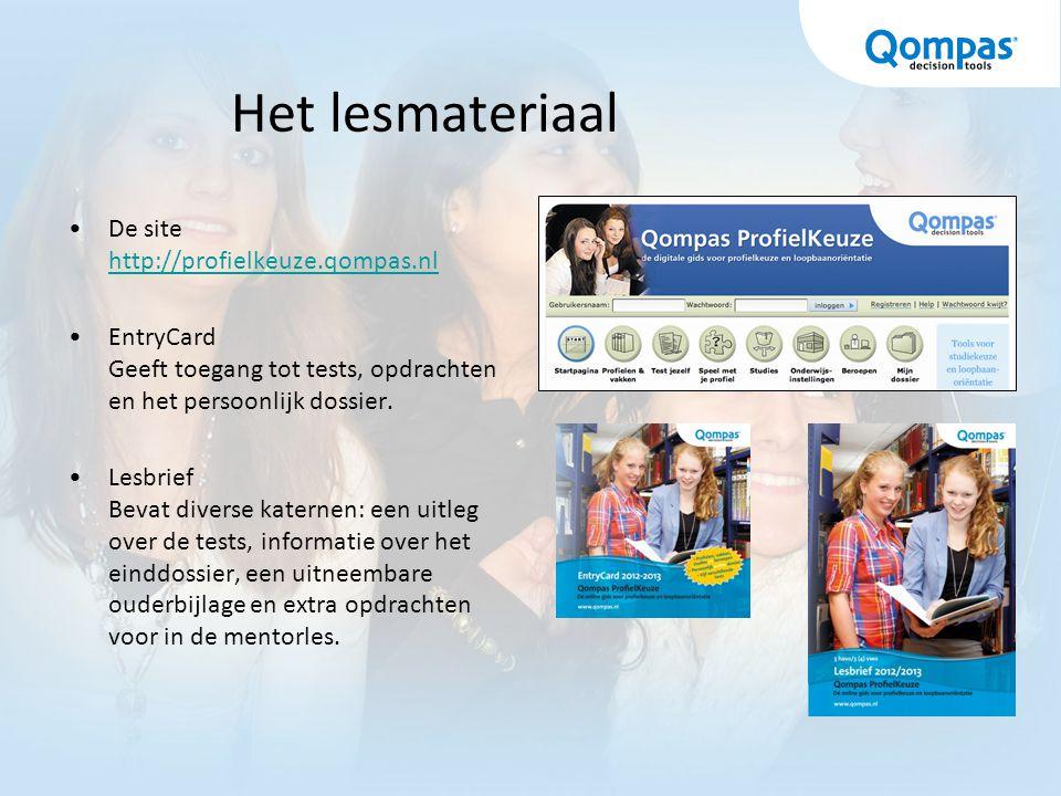 Het lesmateriaal De site http://profielkeuze.qompas.nl
