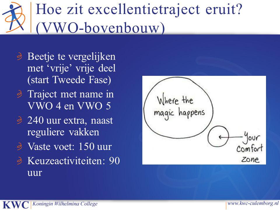 Hoe zit excellentietraject eruit (VWO-bovenbouw)