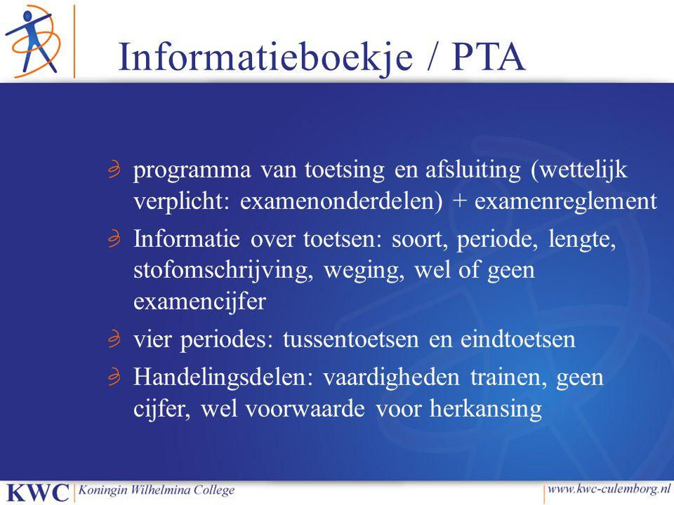 Informatieboekje / PTA
