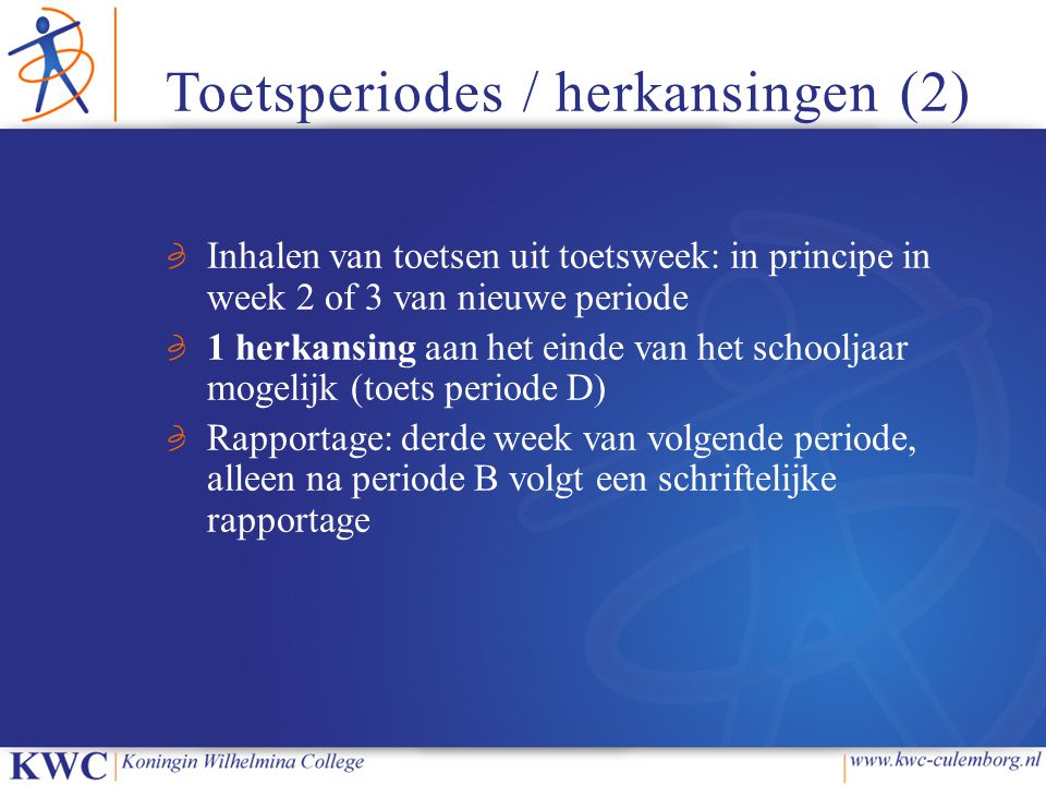 Toetsperiodes / herkansingen (2)