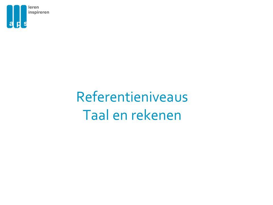 Referentieniveaus Taal en rekenen