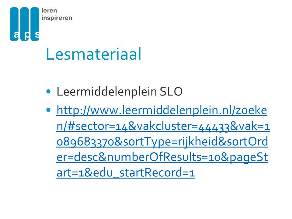 Lesmateriaal Leermiddelenplein SLO