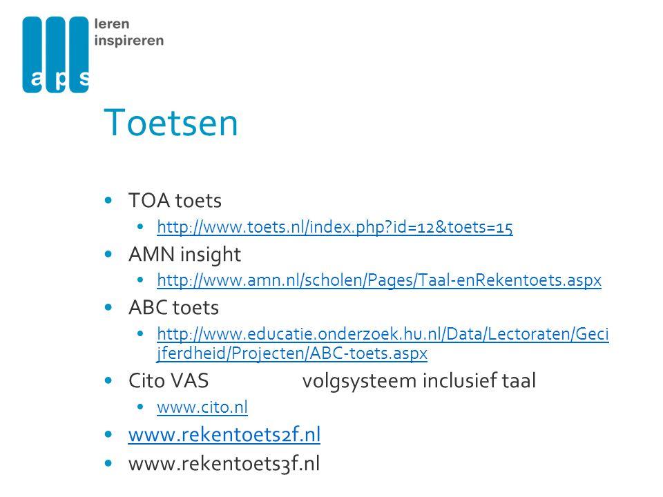 Toetsen TOA toets AMN insight ABC toets