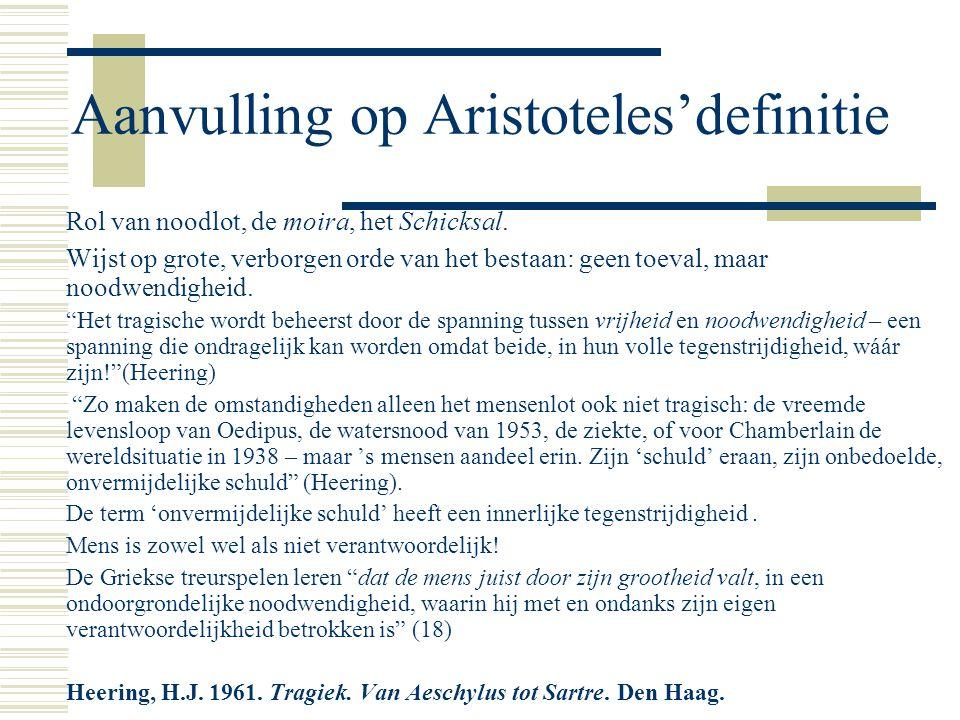 Aanvulling op Aristoteles'definitie