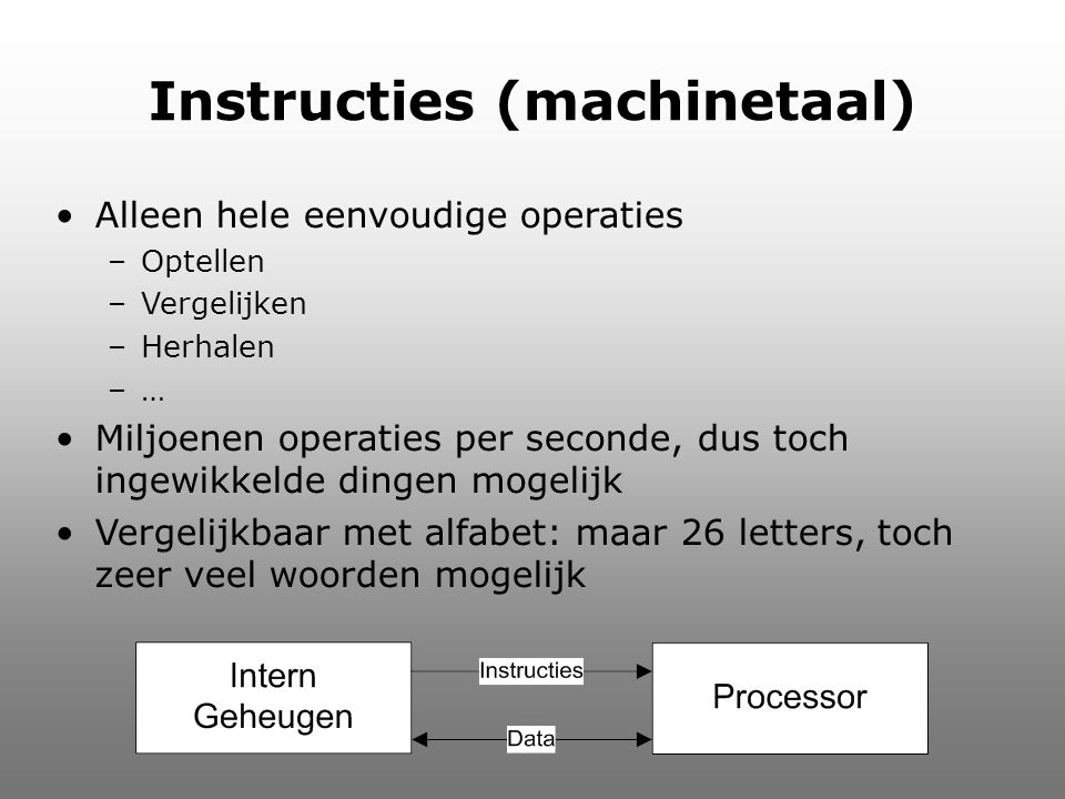 Instructies (machinetaal)