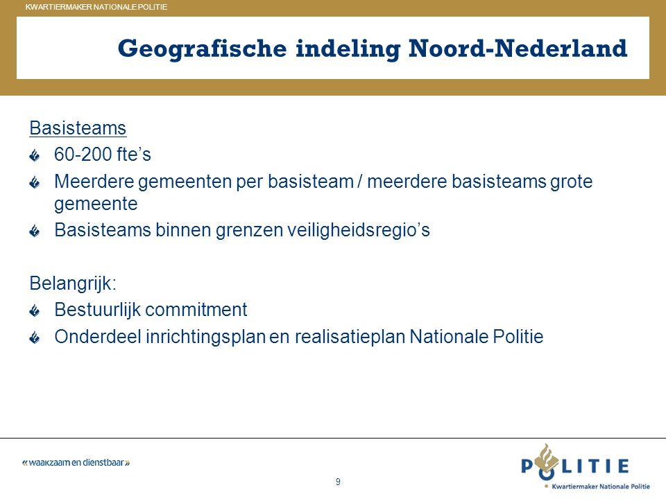 Geografische indeling Noord-Nederland