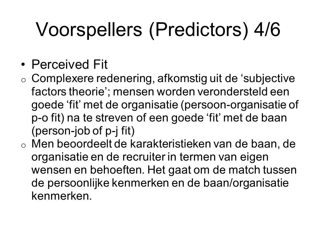 Voorspellers (Predictors) 4/6