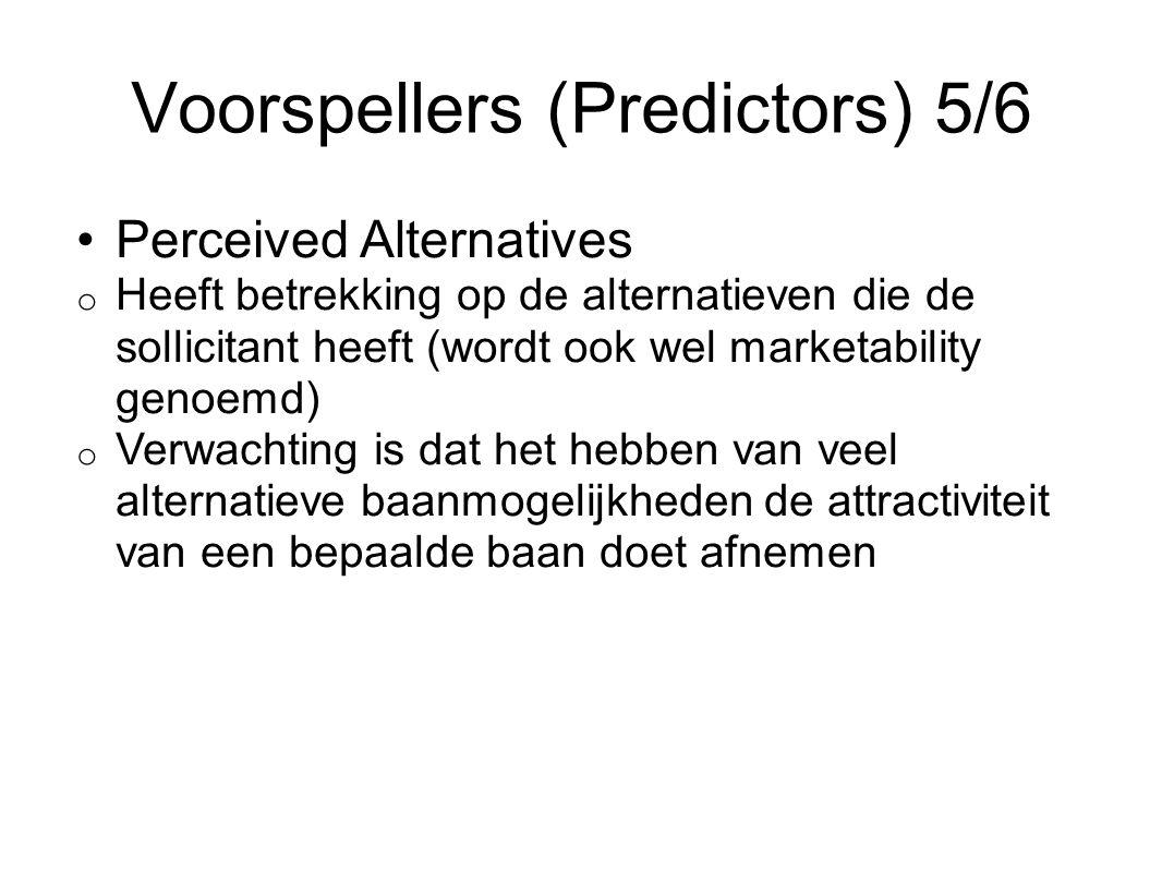 Voorspellers (Predictors) 5/6