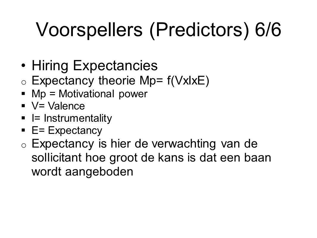 Voorspellers (Predictors) 6/6