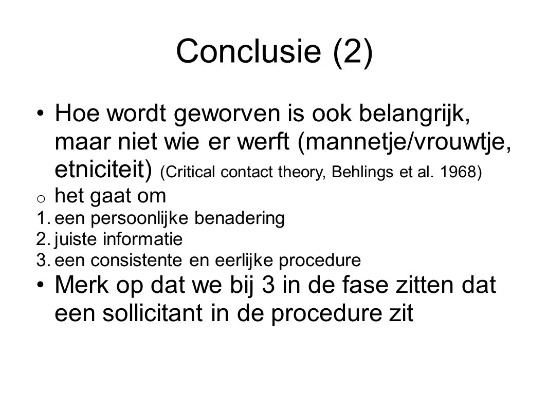 Conclusie (2)