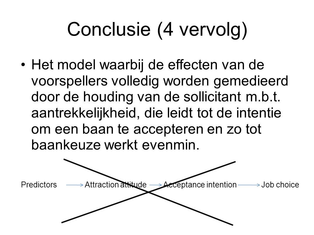 Conclusie (4 vervolg)