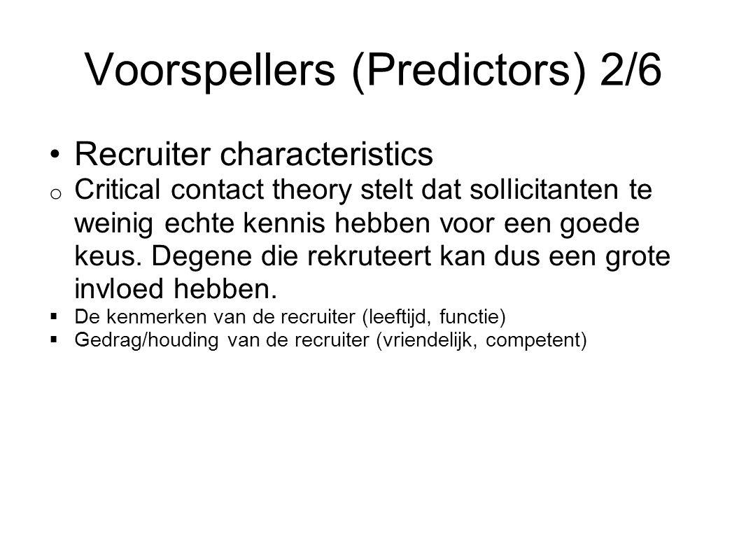 Voorspellers (Predictors) 2/6