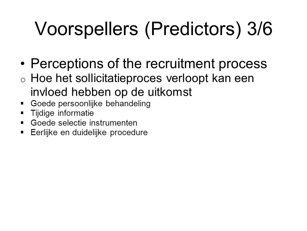 Voorspellers (Predictors) 3/6