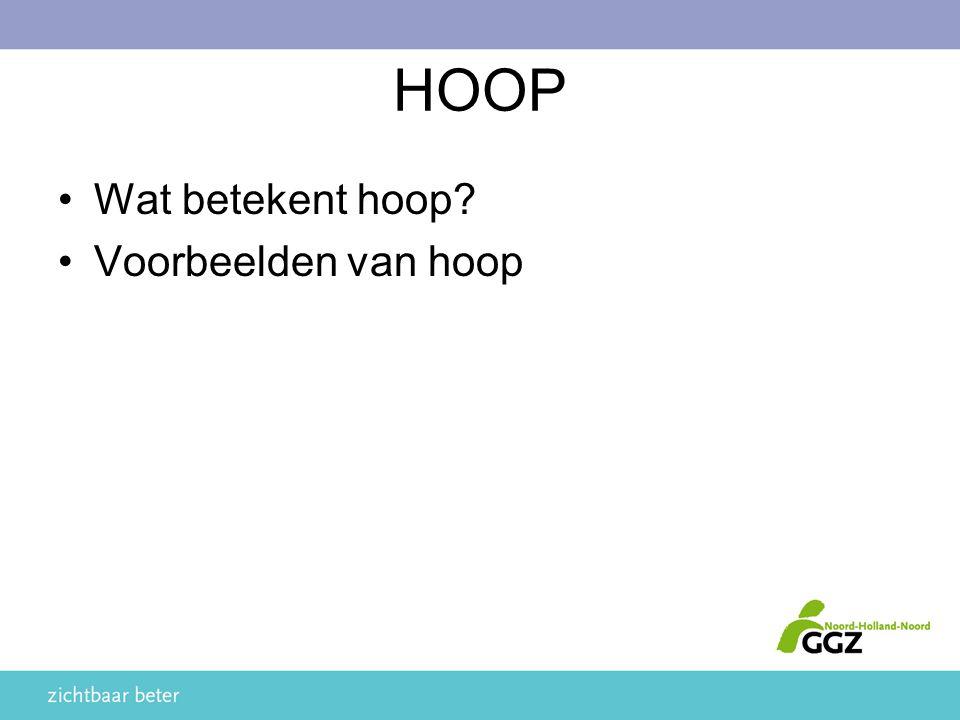 HOOP Wat betekent hoop Voorbeelden van hoop