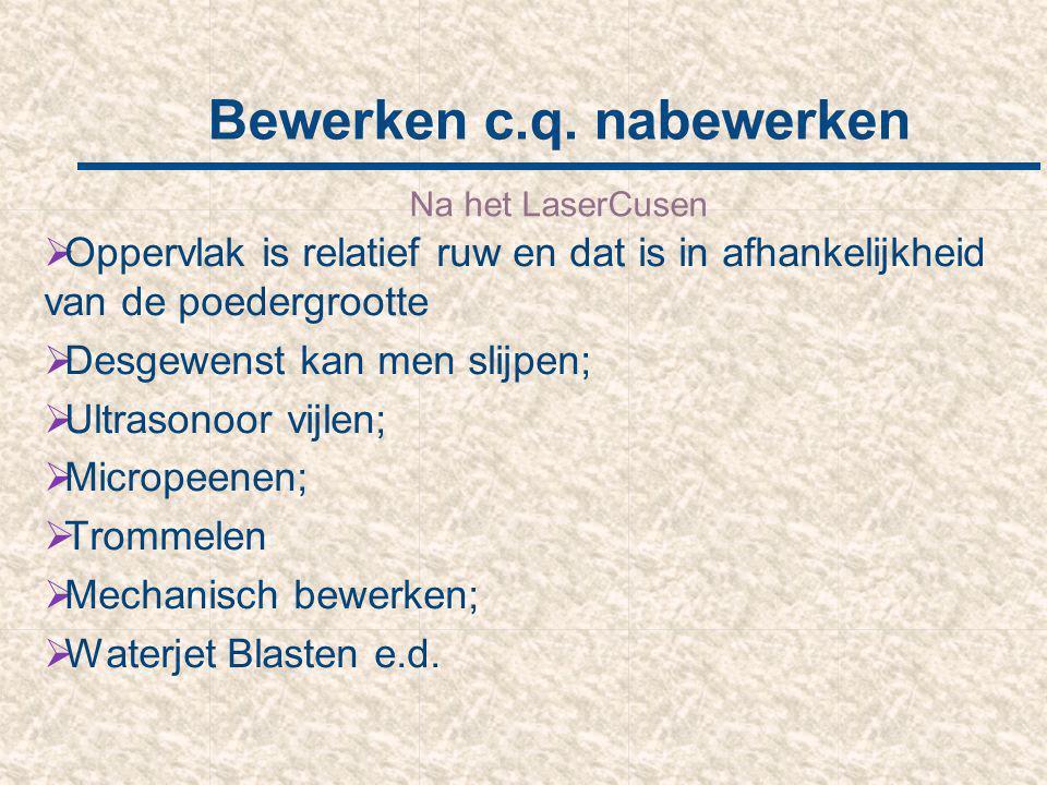 Bewerken c.q. nabewerken
