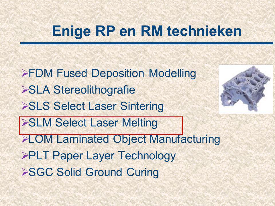 Enige RP en RM technieken