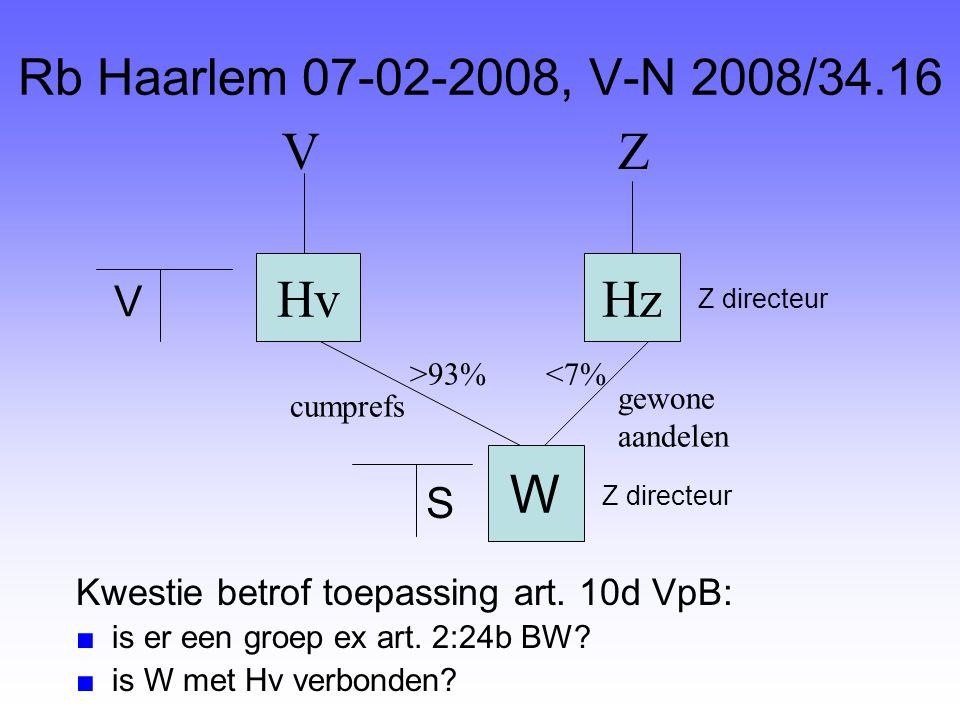 V Z Hv Hz W Rb Haarlem 07-02-2008, V-N 2008/34.16 V S
