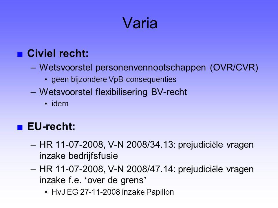 Varia Civiel recht: EU-recht: