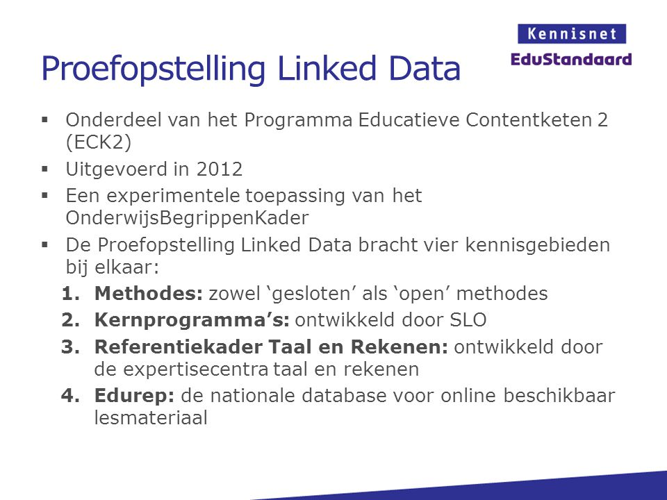 Proefopstelling Linked Data