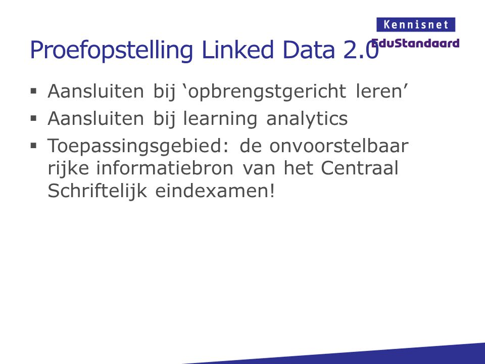 Proefopstelling Linked Data 2.0