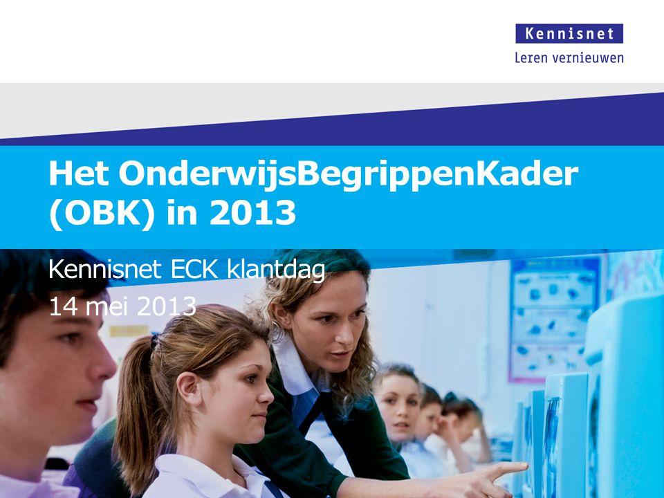 Het OnderwijsBegrippenKader (OBK) in 2013