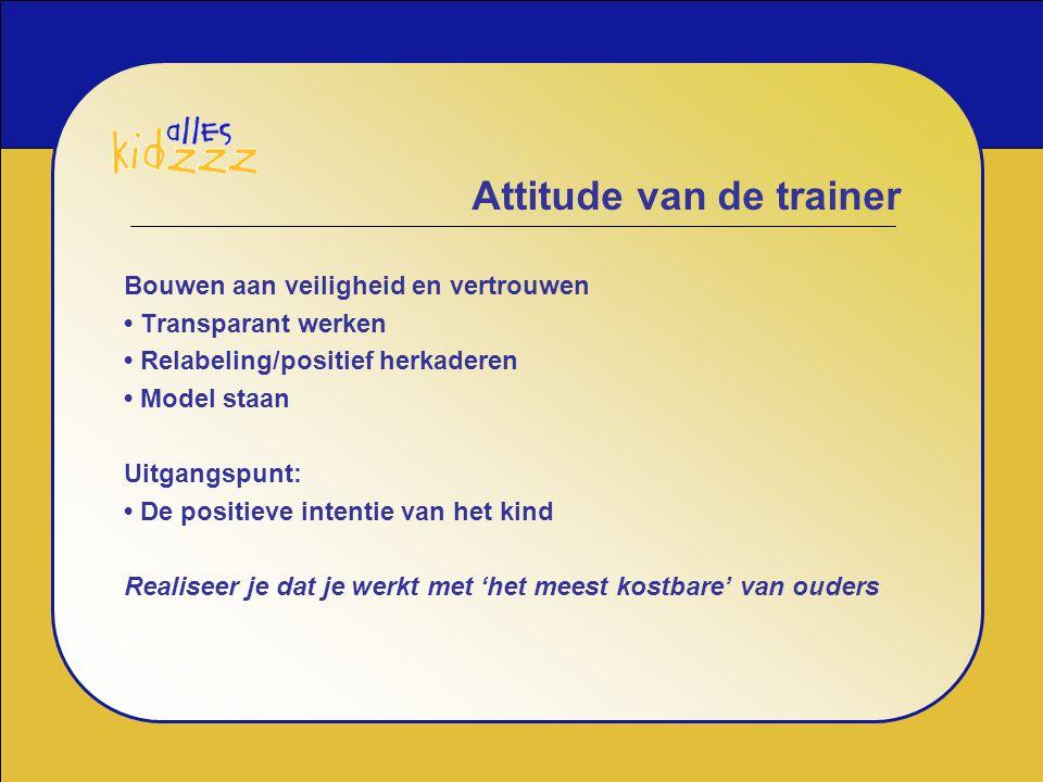 Attitude van de trainer
