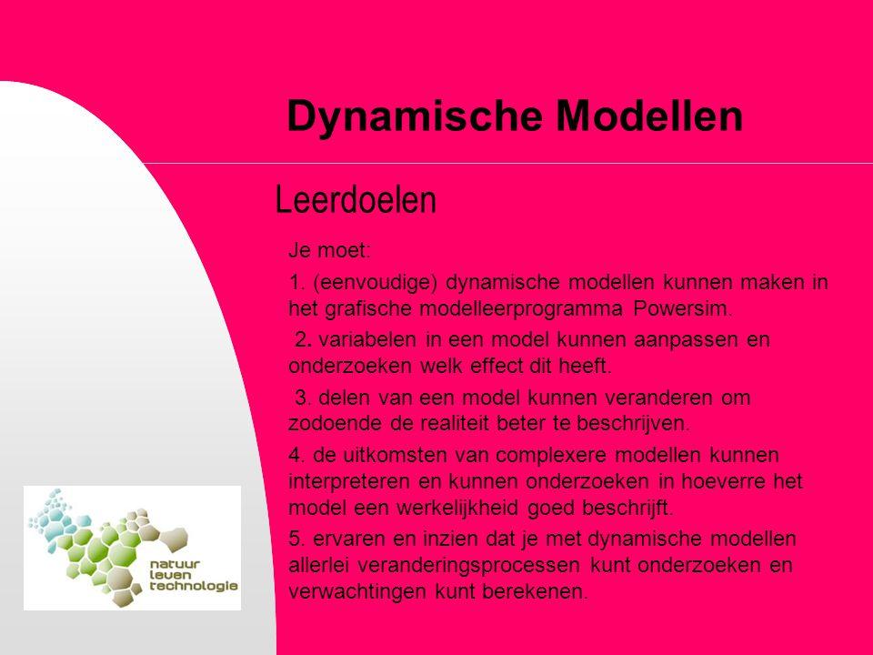 Dynamische Modellen Leerdoelen