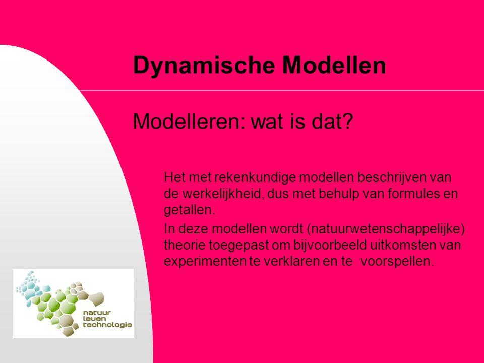Dynamische Modellen Modelleren: wat is dat