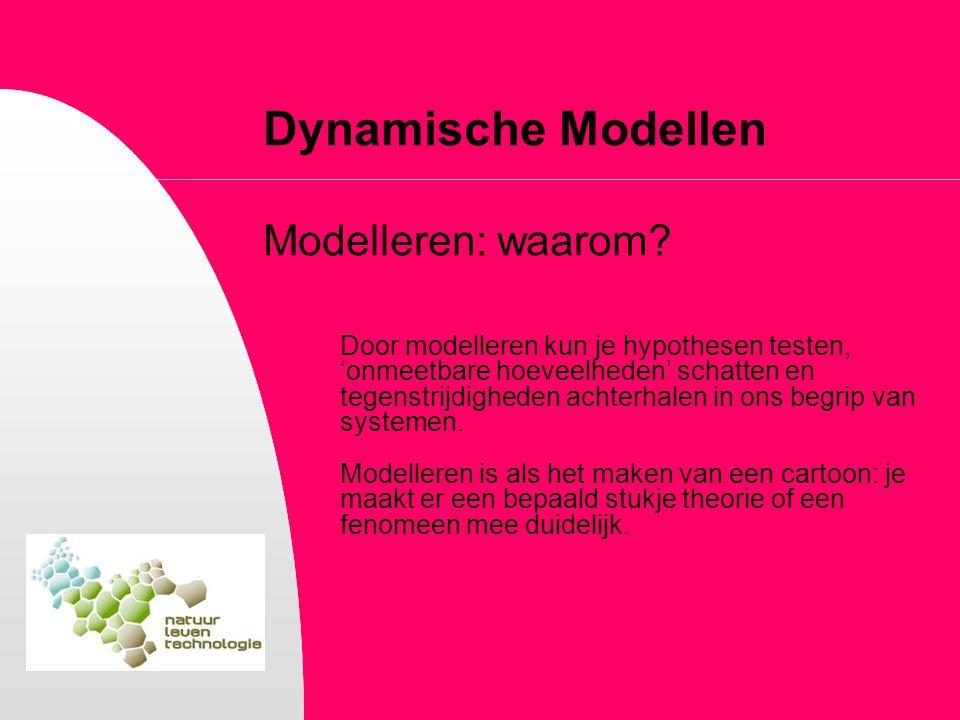 Dynamische Modellen Modelleren: waarom