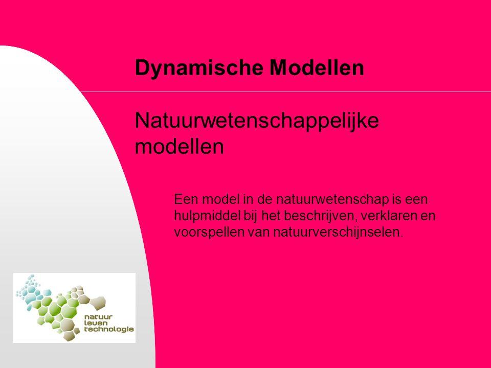 Dynamische Modellen Natuurwetenschappelijke modellen