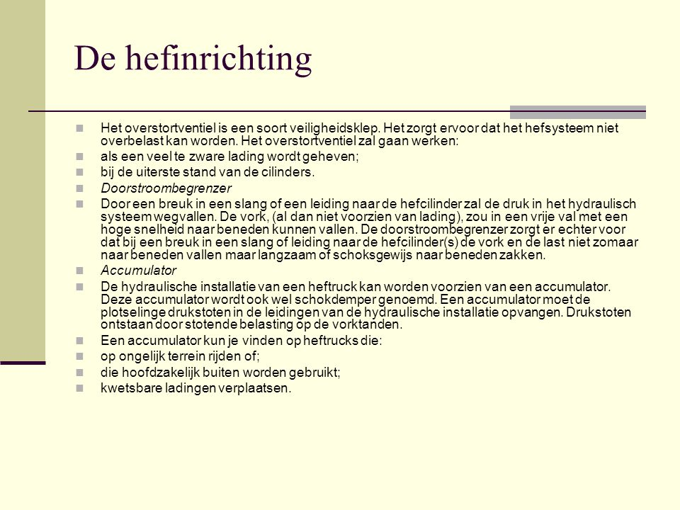 De hefinrichting