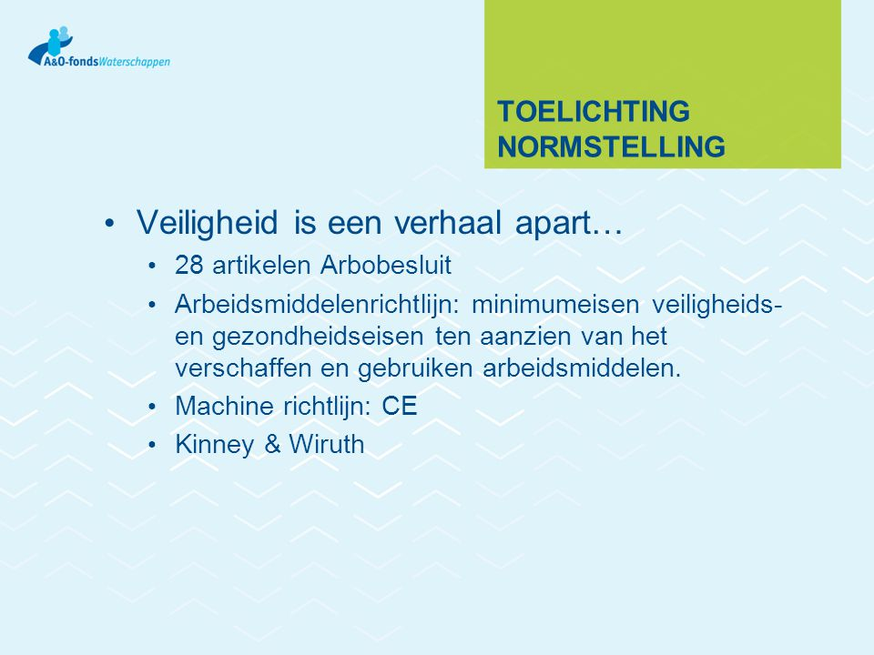 Toelichting normstelling