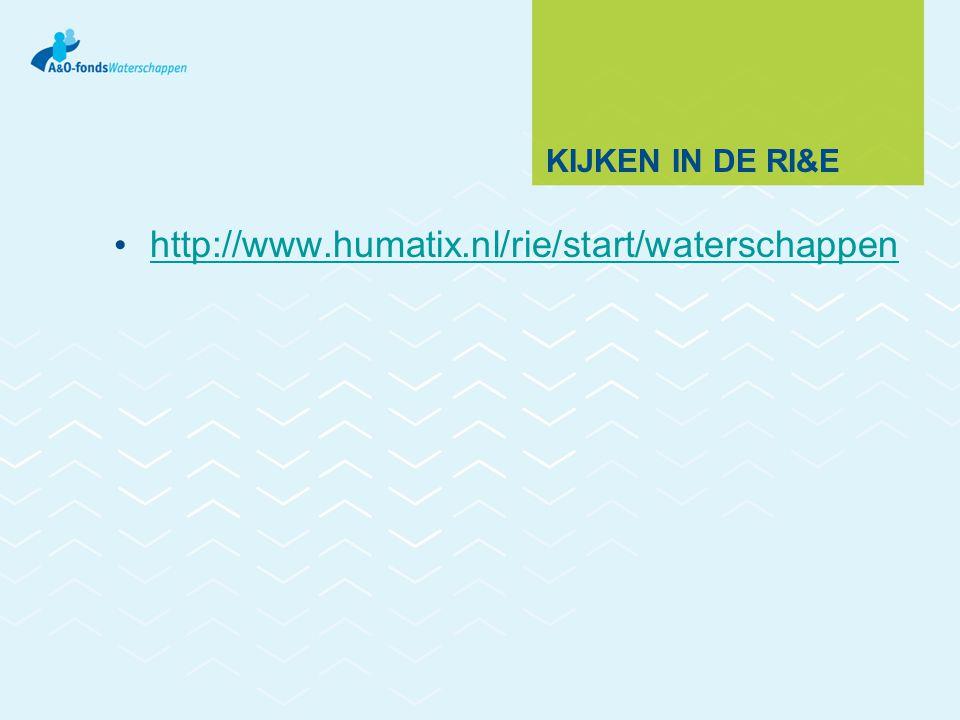 Kijken in de RI&E http://www.humatix.nl/rie/start/waterschappen