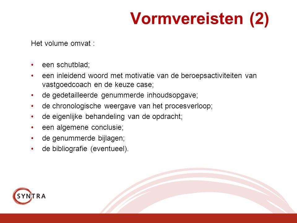 Vormvereisten (2) Het volume omvat : een schutblad;
