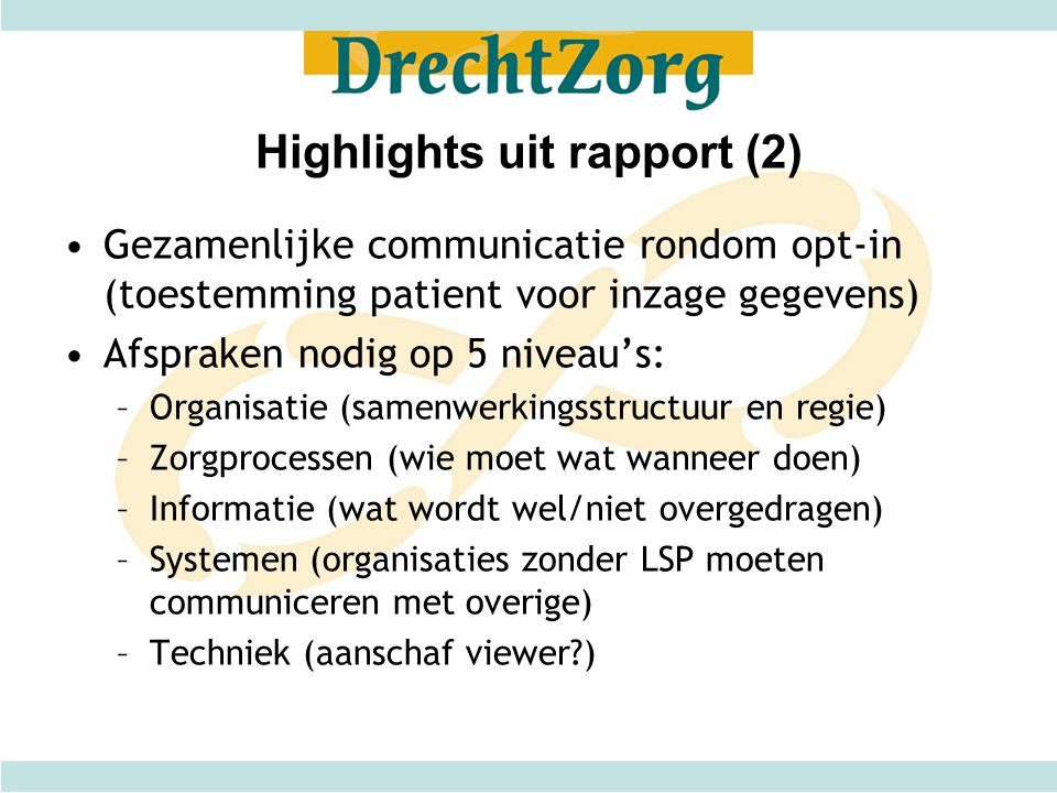Highlights uit rapport (2)