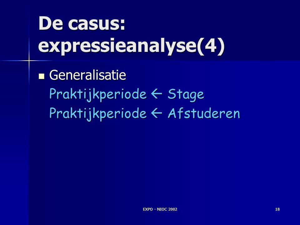De casus: expressieanalyse(4)