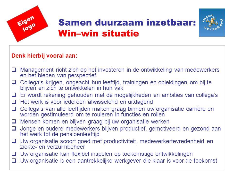 Samen duurzaam inzetbaar: Win–win situatie