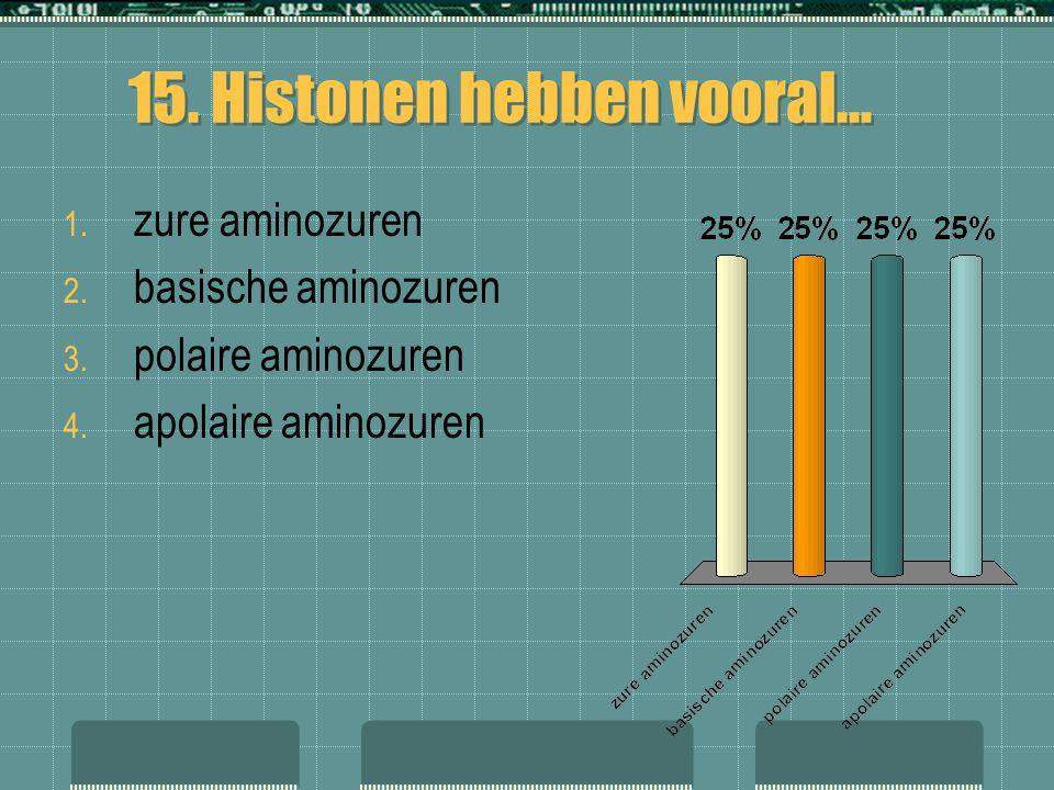 15. Histonen hebben vooral…