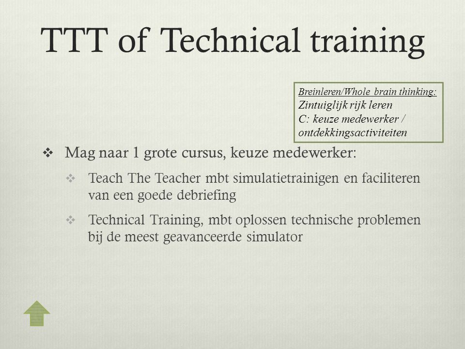 TTT of Technical training