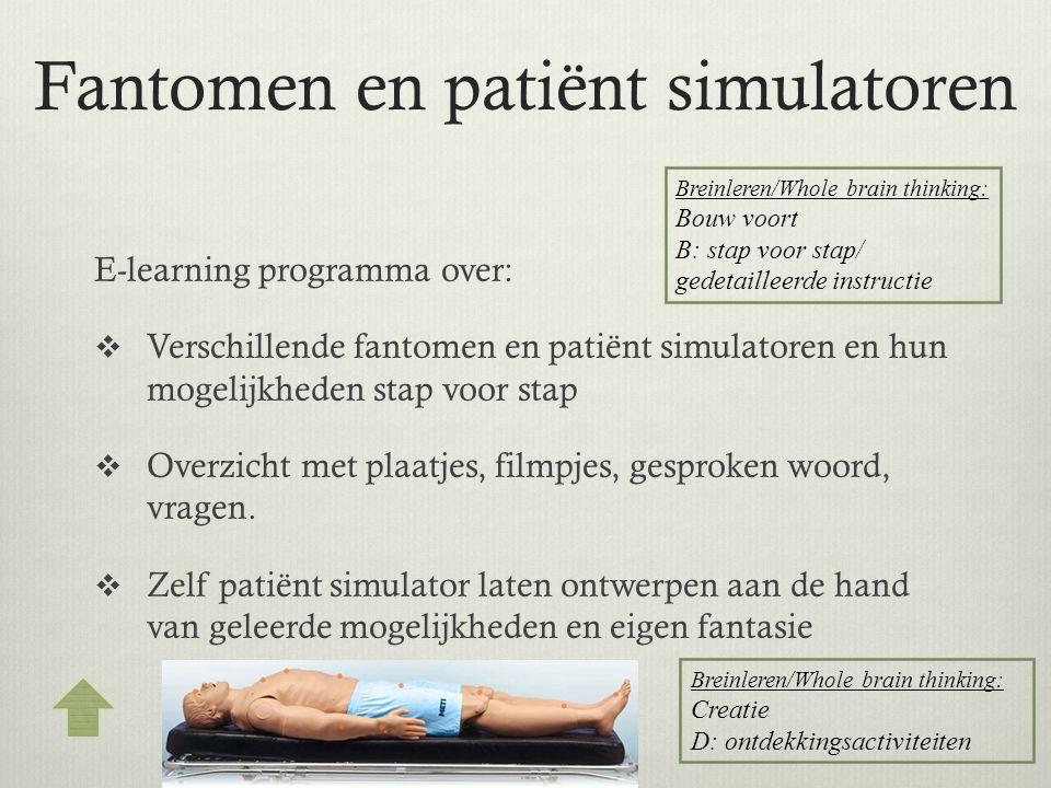 Fantomen en patiënt simulatoren