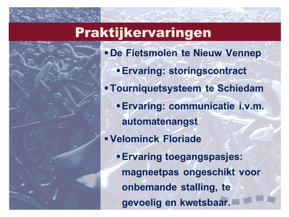 Praktijkervaringen De Fietsmolen te Nieuw Vennep